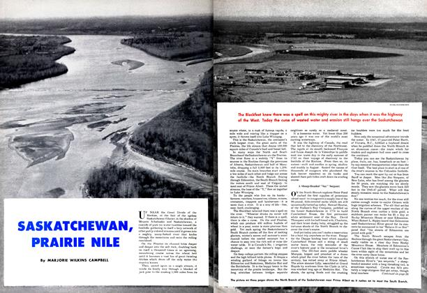Article Preview: SASKATCHEWAN, PRAIRIE NILE, April 1950 | Maclean's