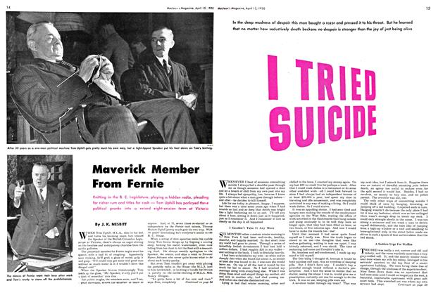 Article Preview: I TRIED SUICIDE, April 1950 | Maclean's