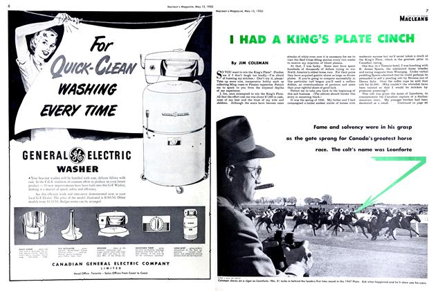 Article Preview: I HAD A KING'S PLATE CINCH, May 1950 | Maclean's