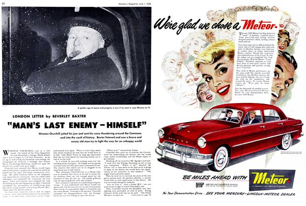 "Article Preview: ""MAN'S LAST ENEMY-HIMSELF"", June 1950 