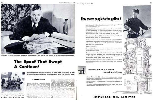Article Preview: The Spoof That Swept A Continent, June 1950 | Maclean's