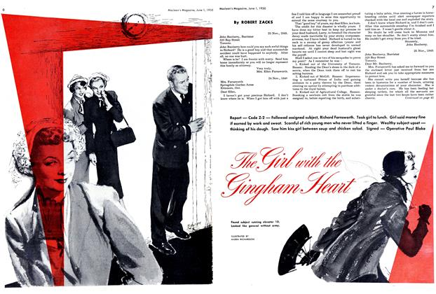 Article Preview: The Girl with the Gingham Heart, June 1950 | Maclean's