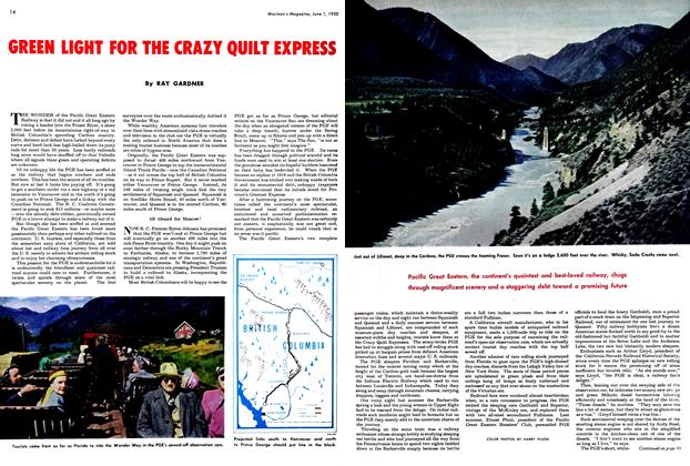 Article Preview: GREEN LIGHT FOR THE CRAZY QUILT EXPRESS, June 1950 | Maclean's