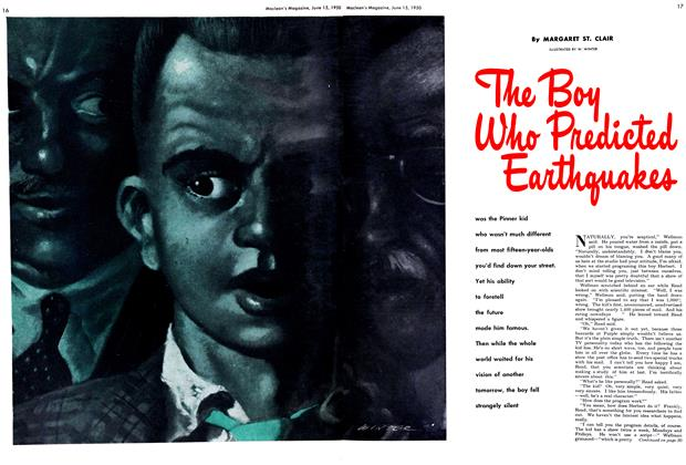 Article Preview: The Boy Who Predicted Earthquakes, June 1950 | Maclean's