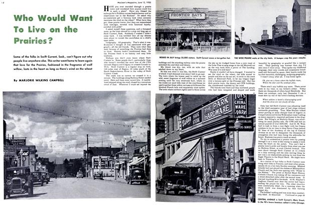 Article Preview: Who Would Want To Live on the Prairies?, June 1950 | Maclean's