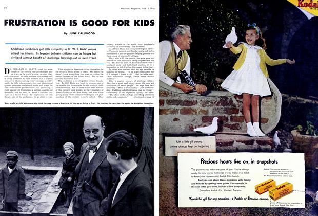 Article Preview: FRUSTRATION IS GOOD FOR KIDS, June 1950 | Maclean's