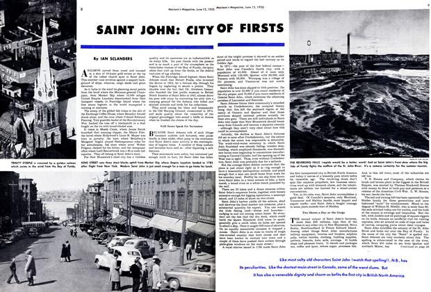 Article Preview: SAINT JOHN: CITY OF FIRSTS, June 1950 | Maclean's