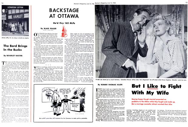 Article Preview: BACKSTAGE AT OTTAWA, June 1950 | Maclean's