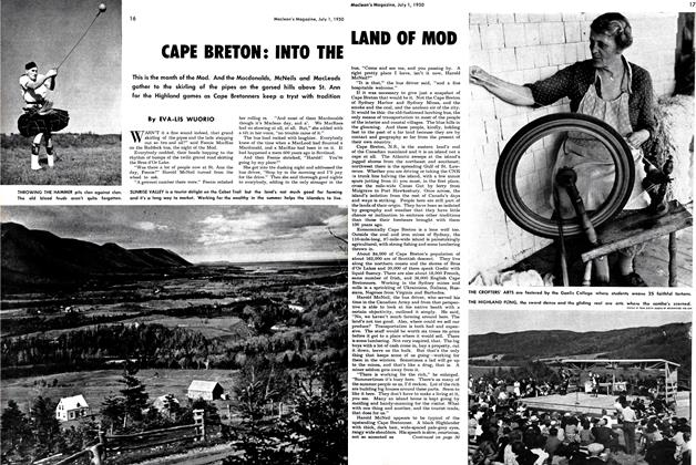 Article Preview: CAPE BRETON: INTO THE LAND OF MOD, July 1950 | Maclean's