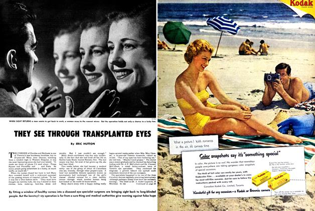Article Preview: THEY SEE THROUGH TRAHSPLAHTED EYES, July 1950 | Maclean's