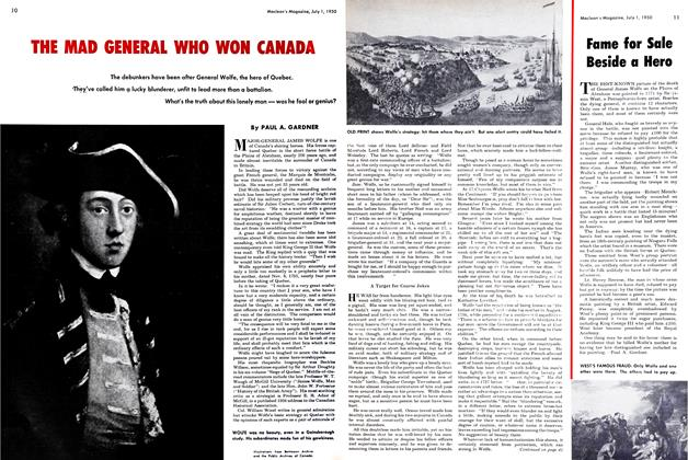Article Preview: THE MAD GENERAL WHO WON CANADA, July 1950 | Maclean's