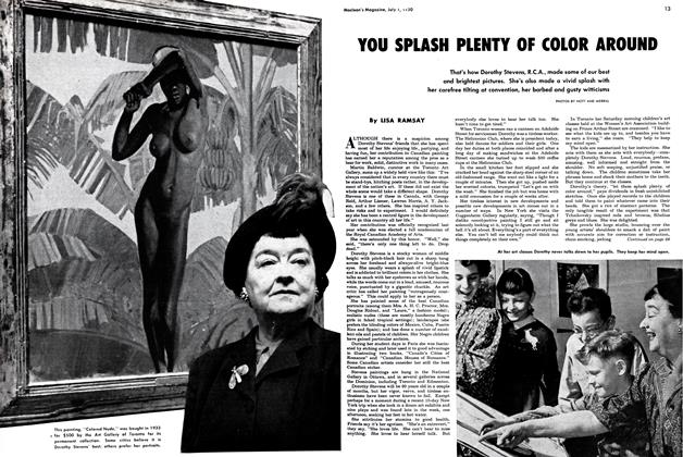 Article Preview: YOU SPLASH PLENTY OF COLOR AROUND, July 1950 | Maclean's