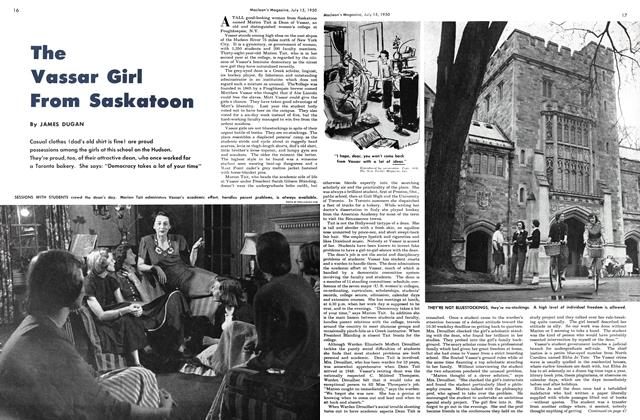 Article Preview: The Vassar Girl From Saskatoon, July 1950   Maclean's