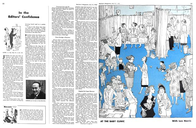 Article Preview: AT THE BABY CLINIC, July 1950 | Maclean's