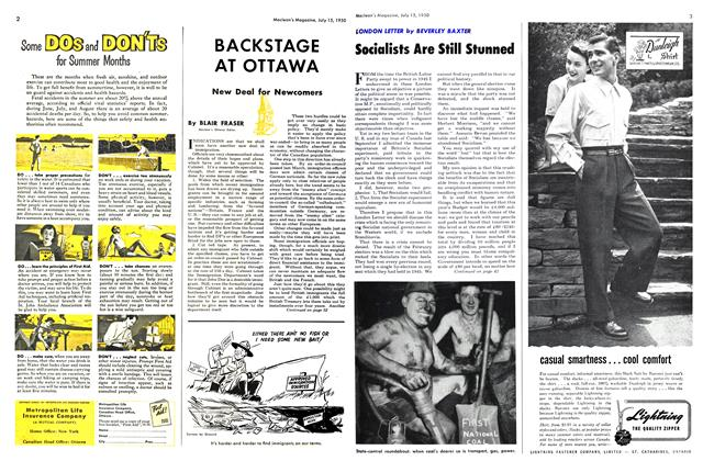 Article Preview: New Deal for Newcomers, July 1950 | Maclean's