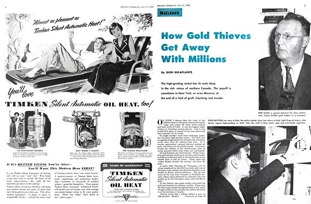 Article Preview: How Gold Thieves Get Away With Millions, July 1950 | Maclean's