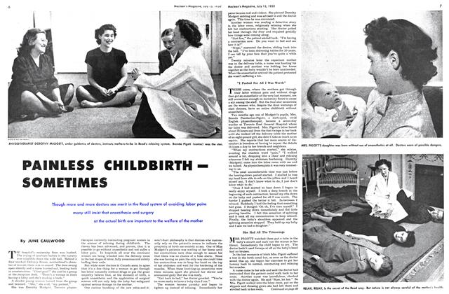 Article Preview: PAINLESS CHILDBIRTH— SOMETIMES, July 1950 | Maclean's