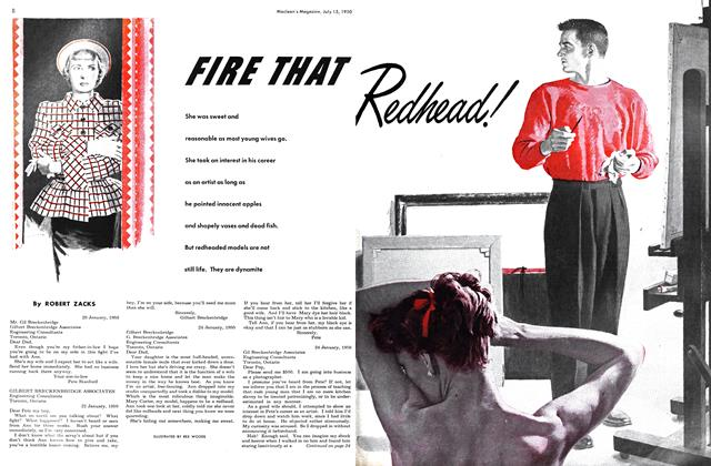 Article Preview: FIRE THAT Redhead!, July 1950 | Maclean's