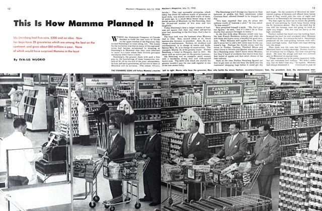 Article Preview: This Is How Mamma Planned It, July 1950 | Maclean's
