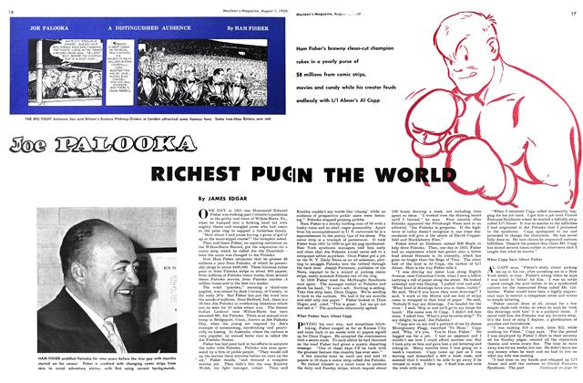 Article Preview: Joe PALOOKA RICHEST PUG IN THE WORLD, August 1950 | Maclean's