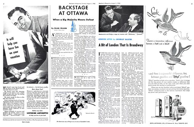 Article Preview: BACKSTAGE AT OTTAWA, August 1950 | Maclean's