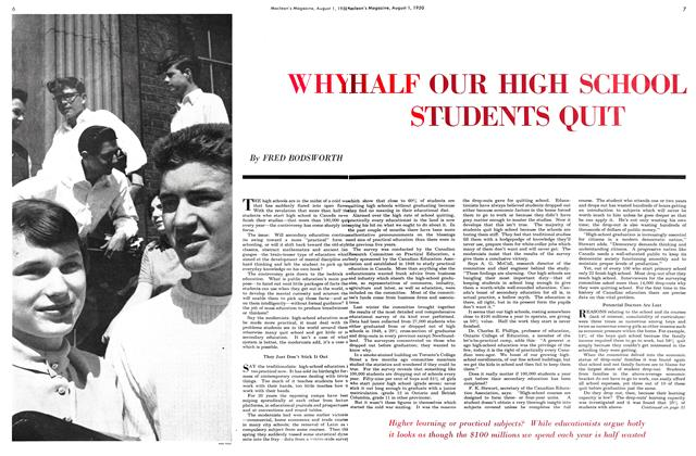 Article Preview: WHY HALF OUR HIGH SCHOOL STUDENTS QUIT, August 1950 | Maclean's