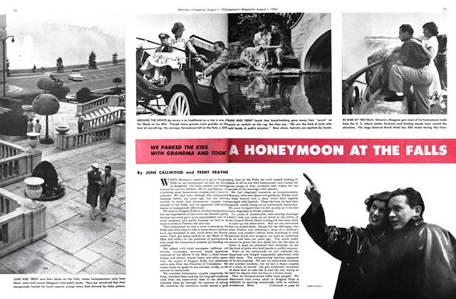 Article Preview: A HONEYMOON AT THE FALLS, August 1950 | Maclean's