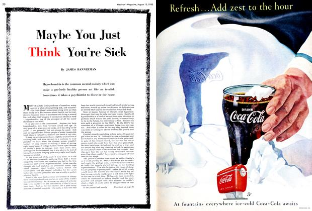 Article Preview: Maybe You Just Think You're Sick, August 1950 | Maclean's