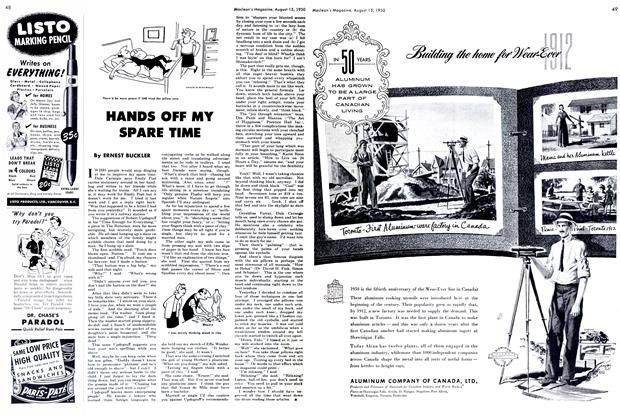 Article Preview: HANDS OFF MY SPARE TIME, August 1950 | Maclean's