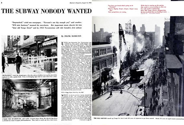 Article Preview: THE SUBWAY NOBODY WANTED, August 1950 | Maclean's