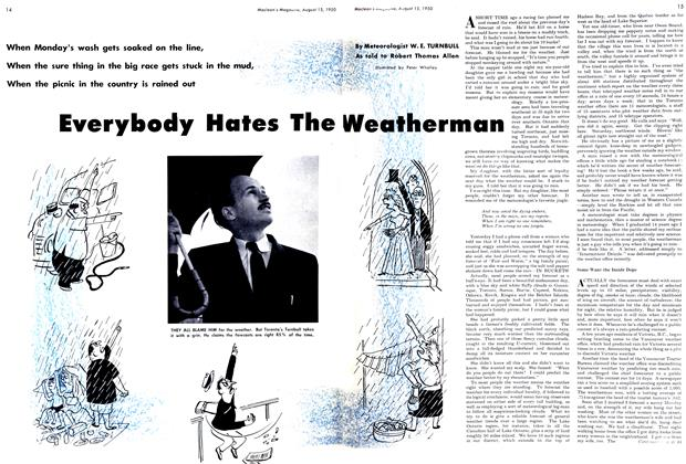Article Preview: Everybody Hates The Weatherman, August 1950 | Maclean's