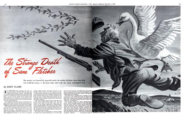 Article Preview: The Strange Death of Sam Fletcher, September 1950 | Maclean's