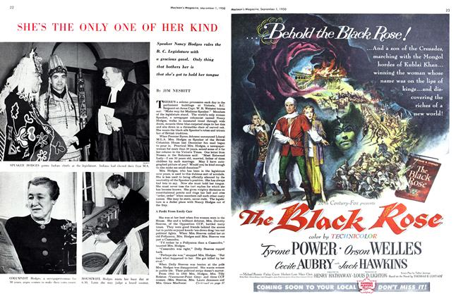 Article Preview: SHE'S THE ONLY ONE OF HER KIND, September 1950 | Maclean's
