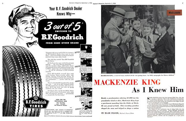 Article Preview: MACKENZIE KING As I Knew Him, September 1950 | Maclean's