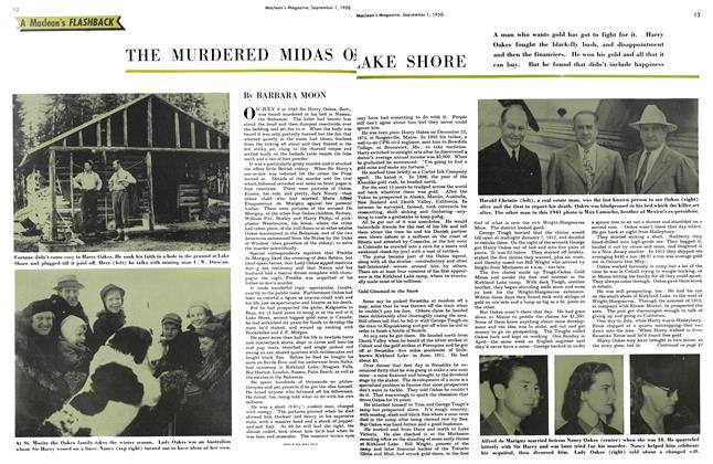 Article Preview: THE MURDERED MIDAS OF LAKE SHOW, September 1950 | Maclean's