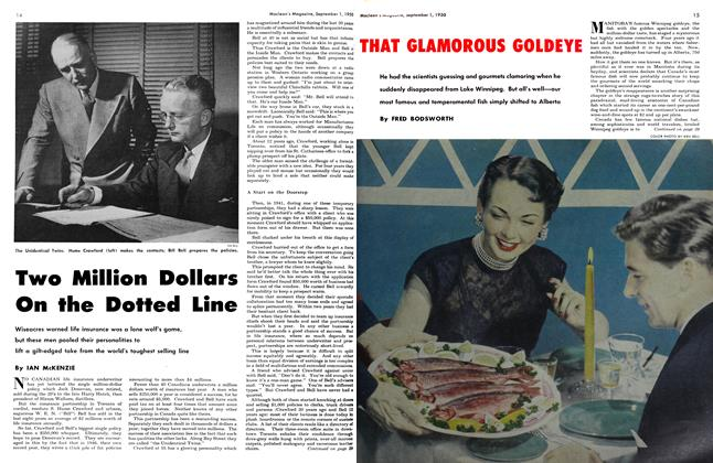 Article Preview: Two Million Dollars On the Dotted Line, September 1950 | Maclean's