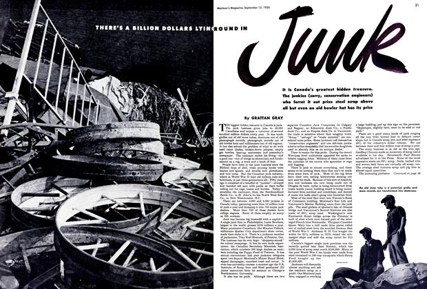 Article Preview: THERE'S BILLION DOLLARS LYING ROUND IN Junk, September 1950 | Maclean's