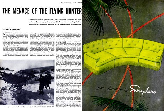 Article Preview: THE MENACE OF THE FLYING HUNTER, September 1950 | Maclean's