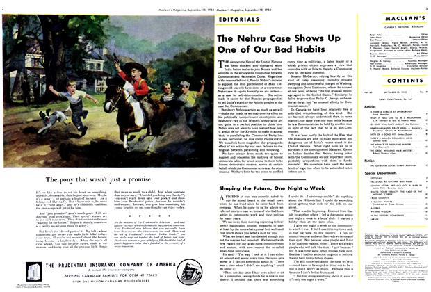 Article Preview: Shaping the Future, One Night a Week, September 1950 | Maclean's
