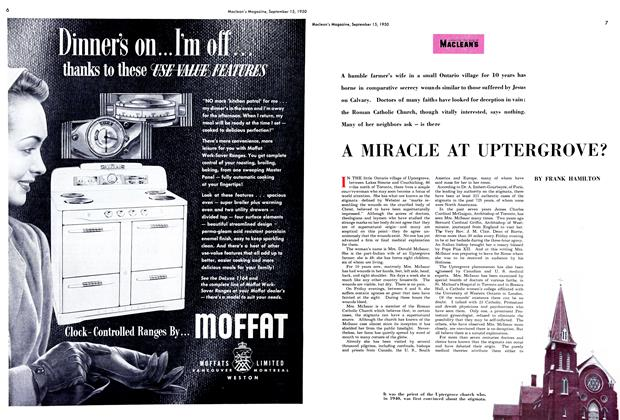 Article Preview: A MIRACLE AT UPTERGROVE?, September 1950 | Maclean's