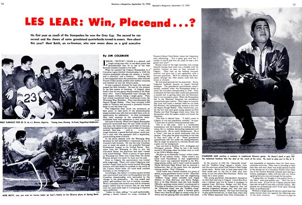 Article Preview: LES LEAR: Win, Place and . . .?, September 1950 | Maclean's