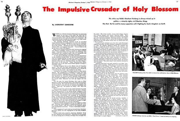 Article Preview: The Impulsive Crusader of Holy Blossom, October 1950 | Maclean's