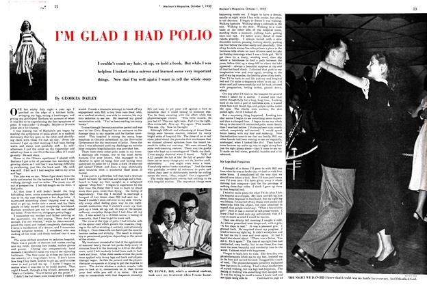 Article Preview: I'M GLAD I HAD POLIO, October 1950 | Maclean's