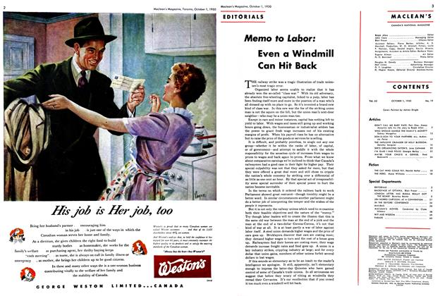 Article Preview: Memo to Labor: Even a Windmill Can Hit Back, October 1950 | Maclean's