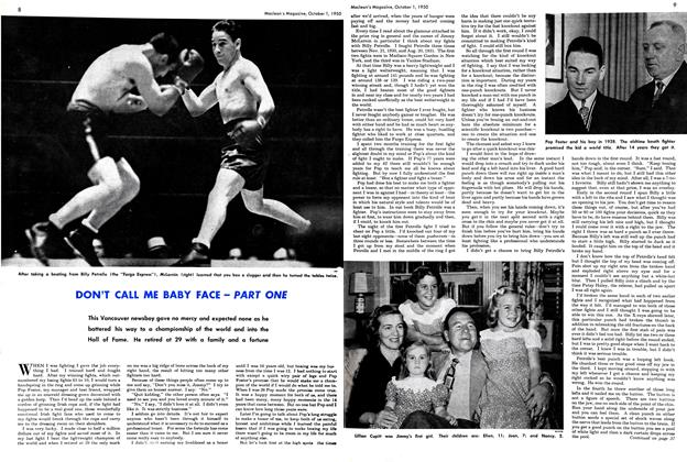 Article Preview: DON'T CALL ME BABY FACE—PART ONE, October 1950 | Maclean's