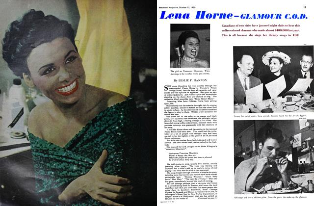 Article Preview: Lena Horne - GLAMOUR C.O.D., October 1950 | Maclean's