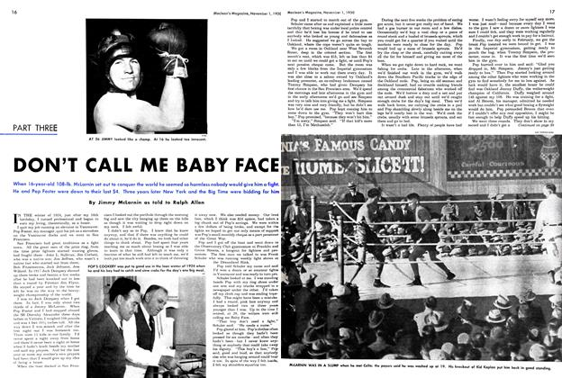 Article Preview: PART THREE DON'T CALL ME BABY FACE, November 1950 | Maclean's