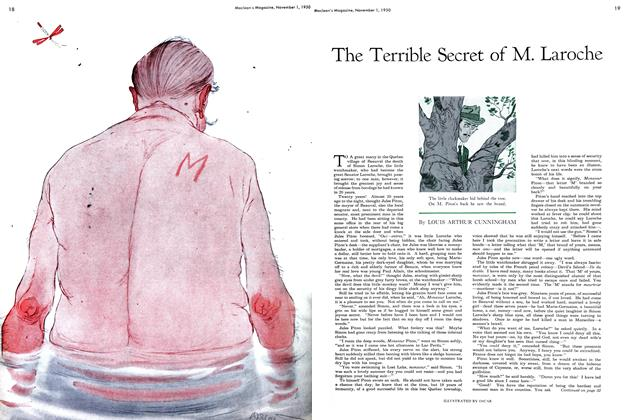 Article Preview: The Terrible Secret of M. Laroche, November 1950 | Maclean's