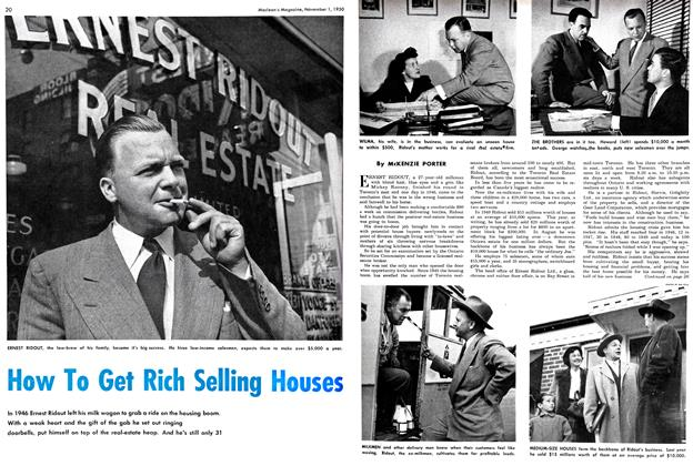 Article Preview: How To Get Rich Selling Houses, November 1950 | Maclean's