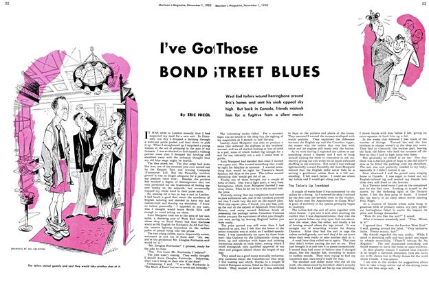 Article Preview: I've Got Those BOND STREET BLUES, November 1950 | Maclean's